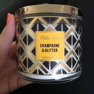 Champagne and glitter candle bath body works